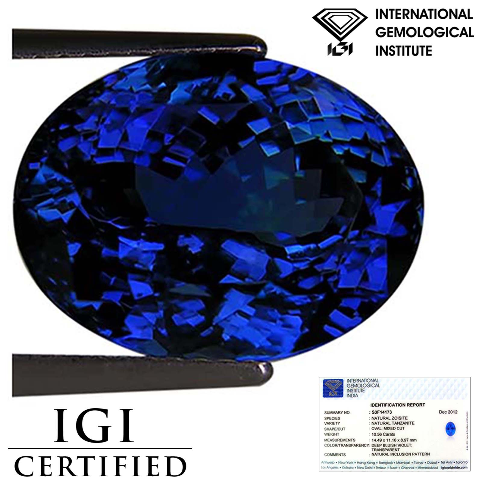 trillion tanzanite with cts jennifer investment ring watch premier coffey grade diamond cut
